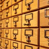Συρτάρια της βιβλιοθήκης του Κοινοβουλίου Οττάβα Στοκ εικόνα με δικαίωμα ελεύθερης χρήσης