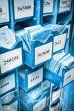 Συρτάρι με τα επιχειρησιακά έγγραφα Στοκ Φωτογραφία