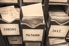 Συρτάρι με τα επιχειρησιακά έγγραφα Στοκ φωτογραφία με δικαίωμα ελεύθερης χρήσης