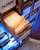 Συρτάρι με τα επιχειρησιακά έγγραφα Στοκ Φωτογραφίες