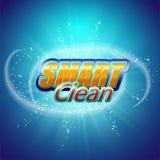 Συσκευάζοντας πρότυπο σχεδίου για τη σκόνη πλύσης Έξοχος καθαρός Φυσαλίδες σαπουνιών, αφρός Στοκ εικόνες με δικαίωμα ελεύθερης χρήσης
