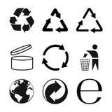 Συσκευάζοντας σύμβολα καθορισμένα, συσκευάζοντας εικονίδια Διανυσματικό illustraion απεικόνιση αποθεμάτων
