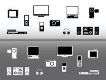 συσκευές ηλεκτρονικέ&sigm στοκ εικόνες