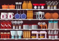 Συσκευές κουζινών ή εργαλείο κουζινών στο κατάστημα Στοκ φωτογραφίες με δικαίωμα ελεύθερης χρήσης