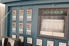 Συσκευές πίνακα ελέγχου για τη θερμική επεξεργασία των ενωμένων στενά ενώσεων Στοκ εικόνα με δικαίωμα ελεύθερης χρήσης