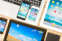 συσκευές που τίθενται Στοκ Εικόνες