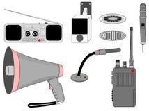 Συσκευές τηλεπικοινωνιών φωνής καθορισμένες Στοκ Εικόνα