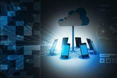 Συσκευές υπολογισμού σύννεφων εννοιών απεικόνιση αποθεμάτων