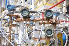 Συσκευή αποστολής σημάτων πίεσης στη διαδικασία πετρελαίου και φυσικού αερίου στοκ εικόνα με δικαίωμα ελεύθερης χρήσης