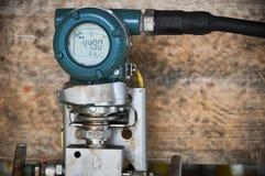 Συσκευή αποστολής σημάτων πίεσης στο πετρέλαιο και βιομηχανία φυσικού αερίου για την ελεγχόμενη διαδικασία, ψηφιακή επίδειξη του  Στοκ φωτογραφία με δικαίωμα ελεύθερης χρήσης