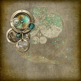 Συσκευή αστρολογίας/πυξίδων Steampunk διανυσματική απεικόνιση