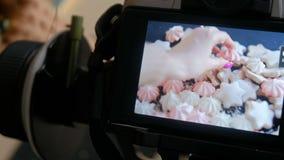 Συσκευή εξοπλισμού φωτογραφίας οθόνης καμερών απόθεμα βίντεο