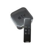 Συσκευή μέσων TV της Apple που απομονώνεται στο λευκό Στοκ Εικόνες