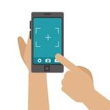 Συσκευή Smartphone με φωτογραφικό app Στοκ φωτογραφία με δικαίωμα ελεύθερης χρήσης