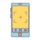 Συσκευή Smartphone με φωτογραφικό app Στοκ Φωτογραφία