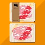 Συσκευασία βόειου κρέατος Στοκ Εικόνες