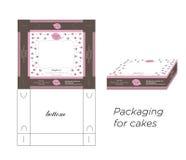 Συσκευασία για τα κέικ στοκ φωτογραφία με δικαίωμα ελεύθερης χρήσης