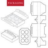 Συσκευασία για το αρτοποιείο Διανυσματική απεικόνιση του κιβωτίου απεικόνιση αποθεμάτων