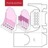 Συσκευασία για το καλλυντικό ή skincare το προϊόν ελεύθερη απεικόνιση δικαιώματος