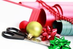 συσκευασία δώρων Χριστ&omicr Στοκ εικόνες με δικαίωμα ελεύθερης χρήσης