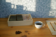 Συσκευασία καφέ Στοκ Φωτογραφία