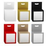 Συσκευασία κιβωτίων εγγράφου με το μπροστινό σύνολο παραθύρων και κρεμαστρών, ψαλίδισμα π Στοκ εικόνα με δικαίωμα ελεύθερης χρήσης