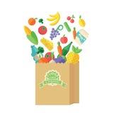 Συσκευασία με τα τρόφιμα και το ποτό Στοκ Εικόνα