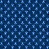 Συσκευασία μπλε snowflakes για τα Χριστούγεννα Στοκ Φωτογραφίες