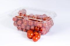 Συσκευασία ντοματών κερασιών Στοκ φωτογραφία με δικαίωμα ελεύθερης χρήσης