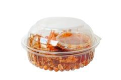 Συσκευασία της τηγανισμένης papaya σαλάτας Στοκ εικόνα με δικαίωμα ελεύθερης χρήσης
