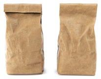 Συσκευασία τσαντών τροφίμων καφετιού εγγράφου διανυσματική απεικόνιση
