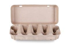 Συσκευασία χαρτοκιβωτίων αυγών που απομονώνεται στο άσπρο υπόβαθρο Στοκ Εικόνα