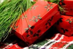 συσκευασία Χριστουγέν& Στοκ Φωτογραφίες