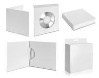 Συσκευασία CD που απομονώνεται στο άσπρο υπόβαθρο Στοκ φωτογραφία με δικαίωμα ελεύθερης χρήσης