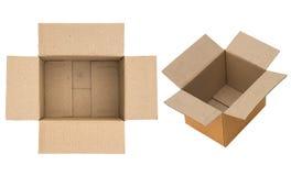 Συσκευασμένος ή κρυμμένος μέσα σε ένα συσκευάζοντας κιβώτιο χαρτονιού Στοκ φωτογραφία με δικαίωμα ελεύθερης χρήσης
