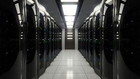 Συσκότιση στο δωμάτιο κεντρικών υπολογιστών διανυσματική απεικόνιση