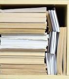 Συσσωρευμένα έγγραφα γραφείων Στοκ Εικόνες