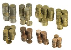 Συσσωρευμένα ευρο- νομίσματα Στοκ φωτογραφία με δικαίωμα ελεύθερης χρήσης