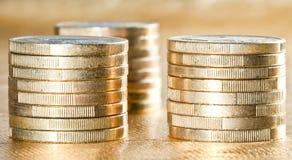 Συσσωρευμένα ευρο- νομίσματα Στοκ φωτογραφίες με δικαίωμα ελεύθερης χρήσης