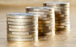 Συσσωρευμένα νομίσματα Στοκ φωτογραφία με δικαίωμα ελεύθερης χρήσης