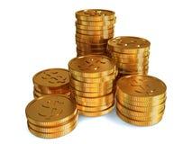 Συσσωρευμένα νομίσματα Στοκ Εικόνα