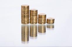 Συσσωρευμένα νομίσματα Στοκ φωτογραφίες με δικαίωμα ελεύθερης χρήσης