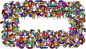Συσσωρευμένα παιδιά εμβλημάτων ελεύθερη απεικόνιση δικαιώματος