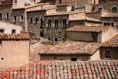 συσσωρευμένα σπίτια ισπανικά Στοκ Εικόνες