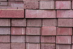 Συσσωρευμένες κόκκινες τούβλα/πέτρες Στοκ εικόνες με δικαίωμα ελεύθερης χρήσης