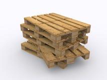 Συσσωρευμένες ξύλινες παλέτες Στοκ Εικόνες