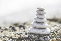 Συσσωρευμένες πέτρες θάλασσας Στοκ Εικόνες