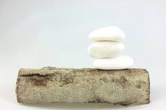 Συσσωρευμένες πέτρες σε ένα ξύλο Στοκ φωτογραφία με δικαίωμα ελεύθερης χρήσης