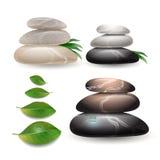 Συσσωρευμένες πέτρες στο υπόβαθρο wight Διανυσματική απεικόνιση