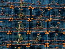 Συσσωρευμένες παγίδες αστακών Στοκ Εικόνες
